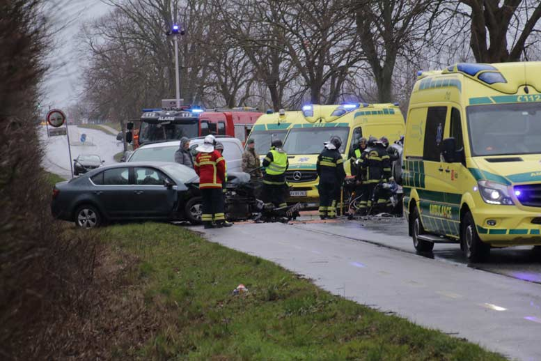 Vordingborg. Trafikuheld på Københavnsvej