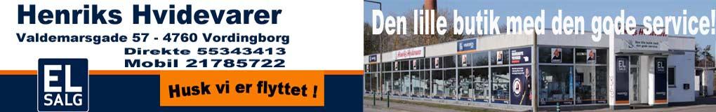 Henriks Hvidevarer i Vordingborg. Vaskemaskiner, opvaskemaskiner, tv, fladskærme, computer, og meget andet til en rigtig god pris. Den lille butik med den store service!