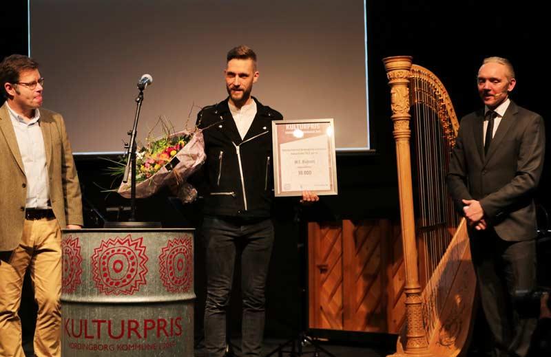 M C Hansen modtog Vordingborg Kommunes Talentpris 2020 på spillestedet Stars