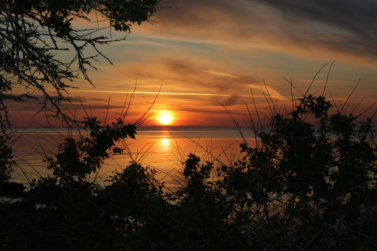 Solnedgang Møn ved Ålebæk