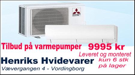 billige Varmepumper Henriks Hvidevarer i Vordingborg