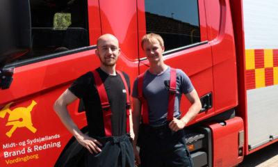Brandalarm på Plejehjemmet Skovbo. her tvillingerne Mathias og Niklas